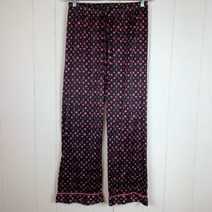 Victoria's Secret Pajama Pants Small Black Pink